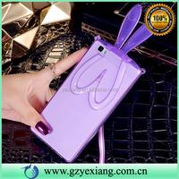 Clear Bunny Rabbit Ear Cartoon Skin TPU Case Cover For Huawei P8 Lite