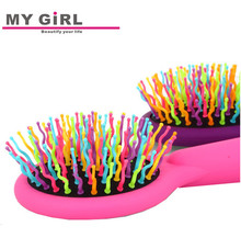 My girl Good quality new design plastic detangle plastic hair brush for thin hair
