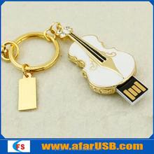 Violin shape diamond usb flash disk, violin usb disk, violin usb pendrive 32GB 64GB