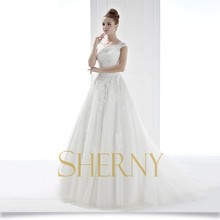 Sherny Bridals Wholesale Brand White Wedding Dress And Lilac