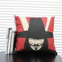 Fashion Figure Printed Square Pillow Cover Home Sofa Decorative Cushion For Leaning On