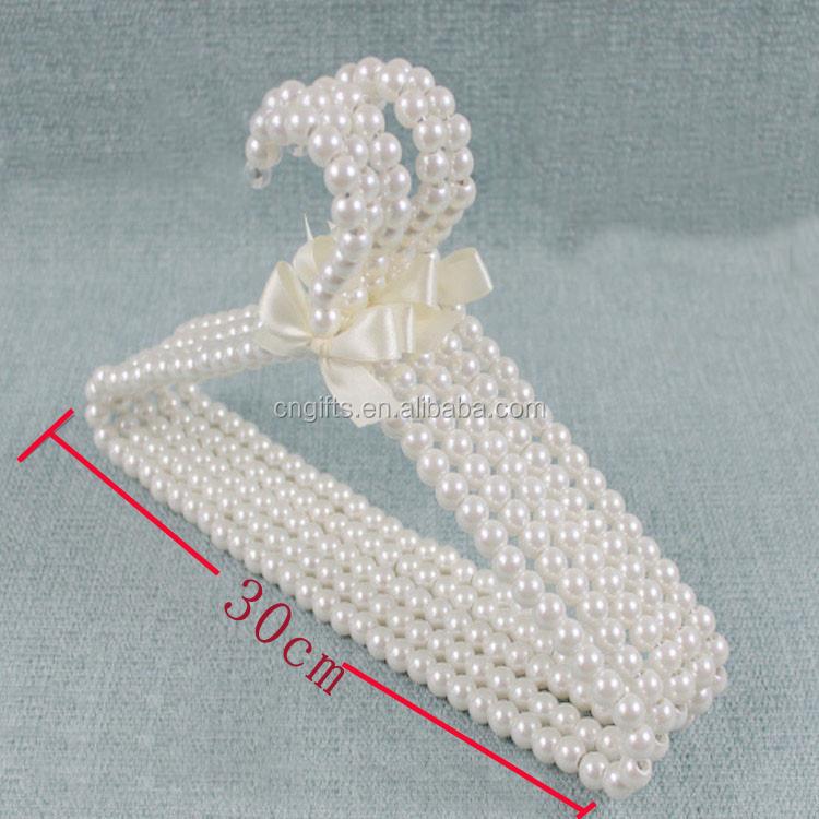 Ywbeyond 30 cm en plastique perle v tements rack enfant en plastique antid rapant b b blanc - Cintre vetement bebe ...