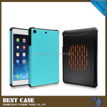 High quality 2 in 1 shockproof case for ipad mini 2 pc silicone