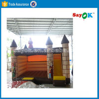 4x4m pvc inflatable jumping castle with slide for sale