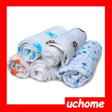 """UCHOME HOT!!! Baby Muslin Swaddle Blanket Wraps 100% Cotton Super Soft 47x47"""" After Washed"""