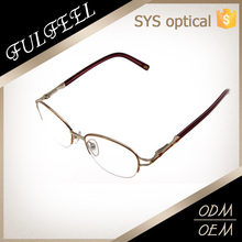 Popular round shape half frame metal rim reading glasses, high quality eyeglasses
