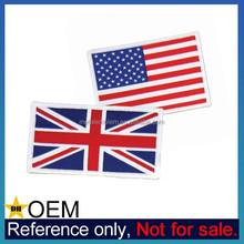 Bulk Custom T-Shirt Velcro Backed Country Flag Cheap Woven Patch