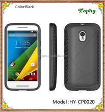 High Quality Cheap China Factory 2 in 1 Hybird Armor TPU&PC Combo Shield Phone Case Back Cover Shockproof For Motorola G3