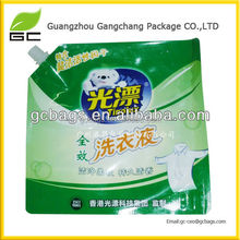 Stand up spout liquid filling sealing plastic bag with competitive price