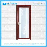Good quality surface treatment for Woodenshock absorber manufacture aluminum jamb single swing flush door