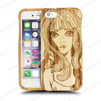 3D Sex Girl Mobile Phone Case For iPhone 6 Wooden Case