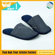 Hot selling !!! Anti slip PVC sole hotel woman and man slipper