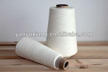 20s/1 polyester spun closed virgin yarn raw white