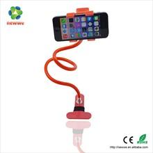 Flexible swivel metal long gooseneck tube phone stand phone holder for bed or desk