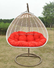 Indoor rattan swing chair two seat swing chair