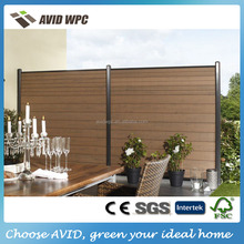Easy installation fence panels/ wpc fence panels/ wpc wood fence panels