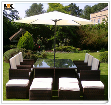 2015 Hot Sale 6-12 Seat BlackBrown Armchairs KD and Table Outdoor Furniture
