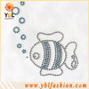 Fish iron on rhinestone heat transfer designs