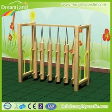 Kids Swing Bridge play game/wooden outdoors play equipment/kids adventure game for sale