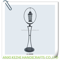 decorative metal floor lantern stand