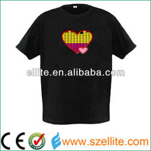 2015 most popular red and yellow equaliser sound activated led clothes