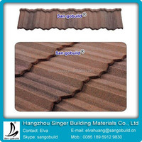 Copper Color Stone Metal Roof Tile
