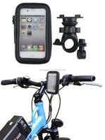 Waterproof Rotating Bicycle Motor Bike Handle Bar Pouch Holder Case For Mobile Phone
