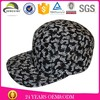 new designed oem custom floral printing high qualltiy 5 panel snapback hat wholesale