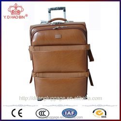 Durable hot sell pu material cover man woman factory directly travel trolly luggage bag