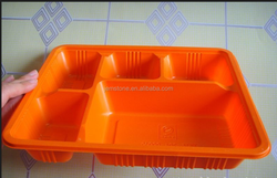 Plastic transparent Storage pp plastic fast food packaging box design