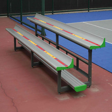 Portable Bleacher/ Tribune with Aluminum Bench Used for Outdoor Basketball&Tennis Court