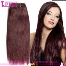 Grade 6a Cheap 99j hair weave European remy hair weaving 99j