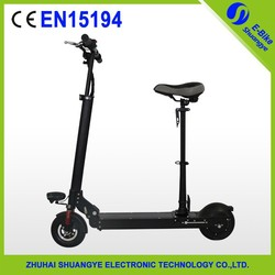 2 wheels electric scooter with comfortable saddle