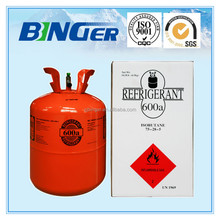refrigerant R600a gas- DOT, SGS, CE Cylinder is allowed