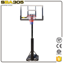 portable training basketball goal poles