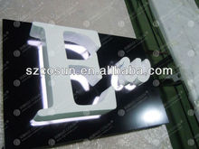 backlit letters with painted backboard