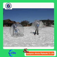 Outdoo snow place 0.8 mm PVC 1.5 m transparent soccer , zorbball, bubble ball for adult