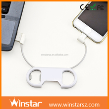 promotion bottle opener keychain both ends micro usb cable for samsung