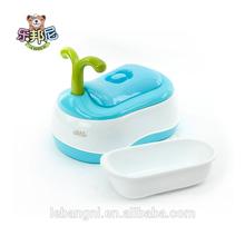 Plántulas de orinal bebé de plástico/de bebé de plástico higiénico/2 en 1 orinal baby azul