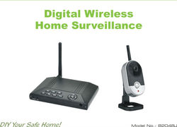 Home use 2.4GHz digital wireless receiver battery operated motion sensor security camera