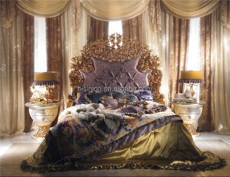 new classic italie style royal king size lit luxe. Black Bedroom Furniture Sets. Home Design Ideas