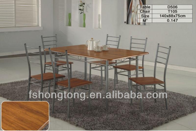 Madera y hierro forjado mesa de comedor antigua mesa de for Comedor hierro forjado