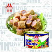380g egg rolls with pork canned food