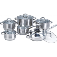 Cookware Set Pots And Pans Non-Stick Stainless Steel 12 Piece Cooking Kitchen