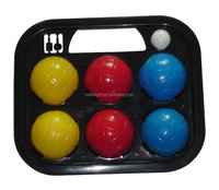 Plastic water bocce ball with one target