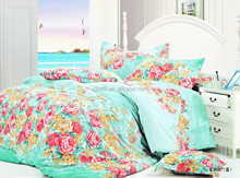 Manufacturer stock fabric 100% cotton brushed Reactive printing 230Thread count bedding sheet set