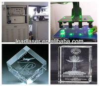 3D Engraved Crystalware Multi-heads Laser Photo Machine