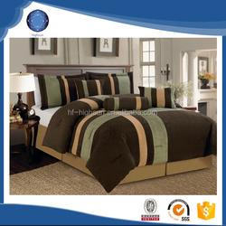 2015 100% polyester wholesale king size comforter set bedding sage