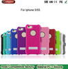 Factory outlets Black For iPhone5S Silicone & Plastic Combo Anti-Slip With kickstand Rotary Belt Clip Case