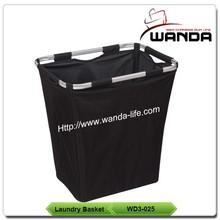Large Black Basket of Dirty Laundry